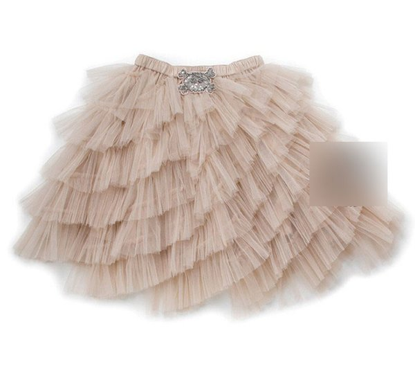 INS Baby girls lace tulle tutu skirt 2019 spring kids beaded sequins embroidery elastic belt princess skirt children party skirt F2678