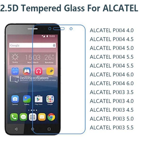 9H 0.26mm tempered glass phone screen protexctor for Alcatel 8050 8060 pixi4 pixi 4 4.0 4.5 5.0 5.5 6.0 pixi 3 3.5 4.0 4.5 5.0 5.5