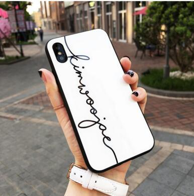 Применимо iPhonexs макс личность английский стеклянный корпус Apple, 8 зеркало окрашены оболочки мобильного телефона 7plus пару моделей оптом