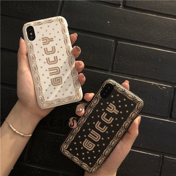 Custodia vintage per iPhone X XS MAX XR Custodia rigida anti-shock per iPhone7 7plus 8 8plus 6 6s Plus - Nero / Bianco