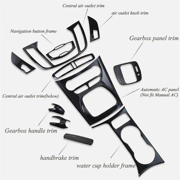 Panel Car Styling engranaje del sostenedor de taza de la manija de la puerta del volante salida de aire decorativos etiqueta caso para KUGA ESCAPE 2013-2019