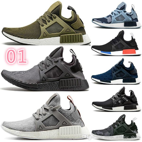 Cheap XR1 running shoes Black Green Navy camo outdoor mens casual shoes Olive green womens designer trainers men shoes 3A 001