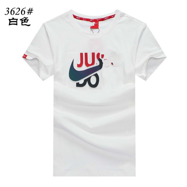 hotMen's casual short-sleeved 2019 fashion classic summer new organic cotton loose easy to clean T-shirt