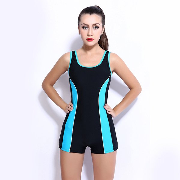 Boutique swimsuit connected flat angle hot spring bathing suit small chest shade Skinny professional sports swimsuit swimwear for woman