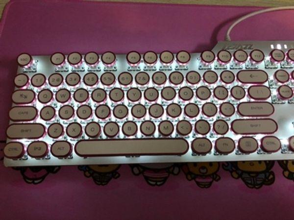 Ak35i Steampunk Mechanical Keyboard Black Black Black Tea Desktop Computer  Wired External Keyboard RGB Light Typewriter Retro Plated Round K Cheap Usb