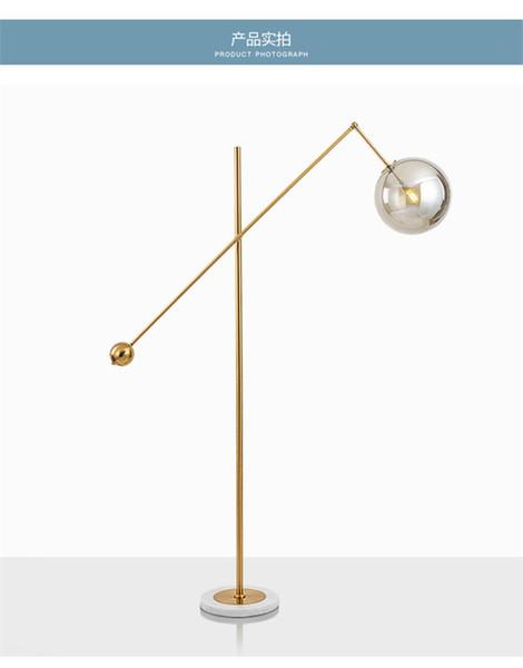 Nórdica De Moderna De Pie Lámpara Pie Diseñador Base De Bola De Compre De Lámparas De Del Cristal Poste Mármol Estar En Pantalla LED De La Sala Noche m0OyvN8nw