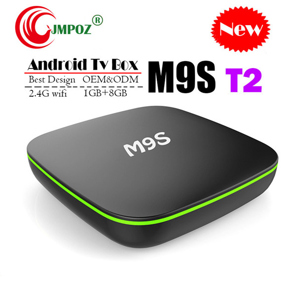 Original M9S T2 Android TV Box Allwinner H3 Quad Core 1GB 8GB 4K H.265 1080P Video Streaming Android TV Boxes Better MXQ PRO RK3229 A95X X96