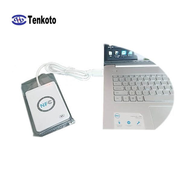 USB NFC Reader With SDK Wholesale New Rfid Writer 13.56Mhz Windows Android Access Control Card Reader+SDK Develop ACR122U