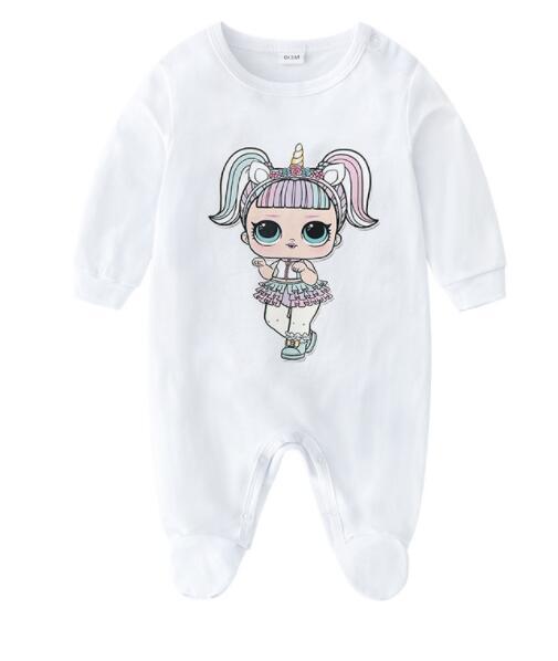 Muchachas de los bebés de los mamelucos de niños de diseño de manga larga de algodón del mono infantil de las muchachas con capucha algodón Romper la ropa del muchacho para el envío libre