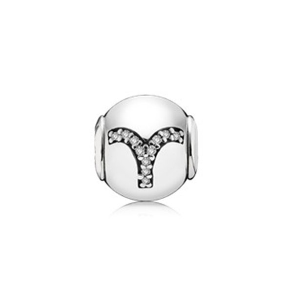NEU 100% 925 Sterling Silber 1: 1 Original 796034CZ ARIES Artikel E Serie Original Damen Hochzeit Vintage Schmuck