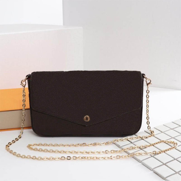 top popular Newest woman Bags Fashion women Shoulder bags High quality Chain bags Size 21 11 2 cm Model 61276 2020