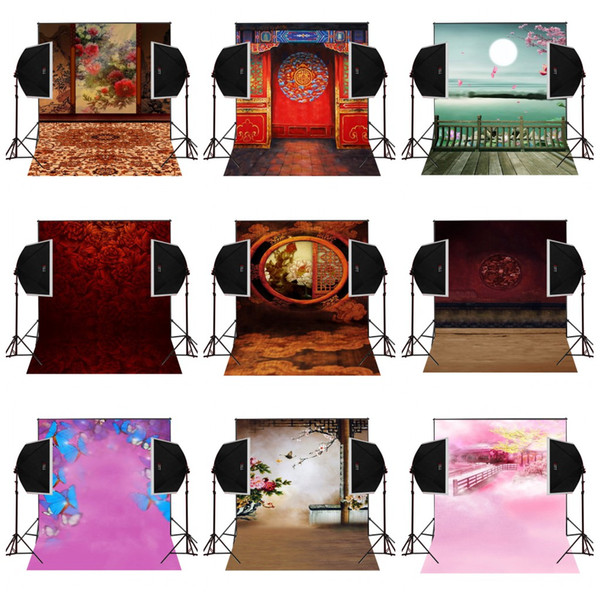 custom 5X7FT chinese style garden scenic vinyl photography backdrop photo background digital music studio prop comunion decoracion for party