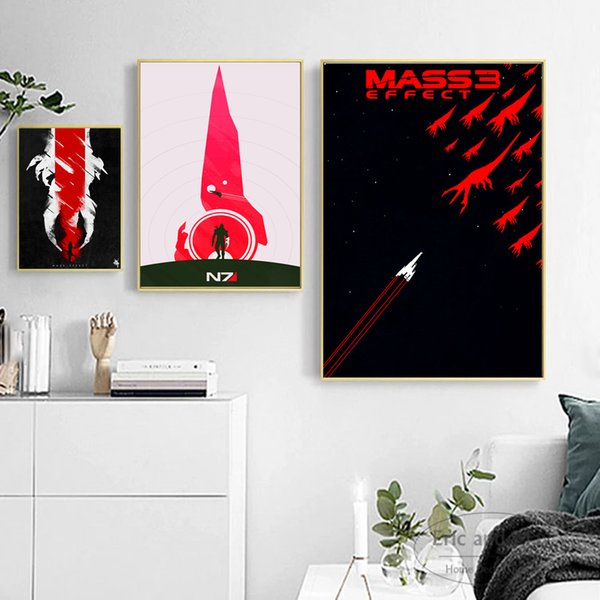 Mass Effect Vintage Minimalist Art Canvas Art Print Painting Modern Wall Picture Home Decor Bedroom Decorative Posters No Frame
