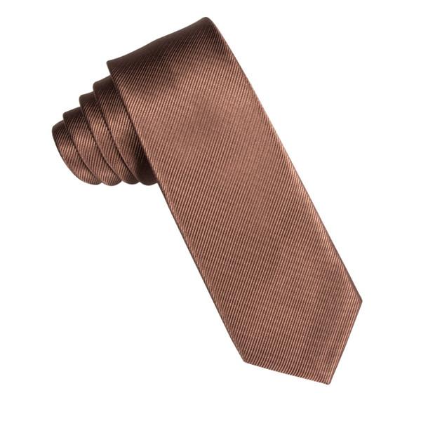DiBanGu Brown Purple Solide Neck Tie für Männer Gravata Slim Ties Schmale Krawatte 6 cm Breite Krawatte Mariage Geschenk Polyester 2 Farben