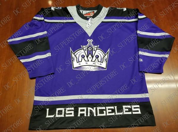 Personalizado barato Los Angeles Kings Vintage Pro Player Tercer jersey  Corona cosida Retro Hockey Jersey Personalizar 3641adb62da