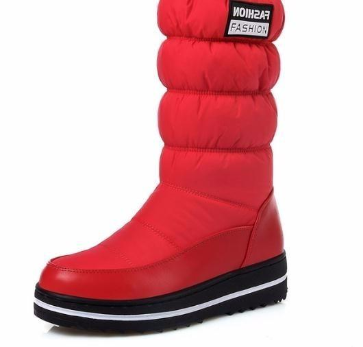 Asumer Plus Size 35-44 Botas de Neve Mulheres de Alta Qualidade Plataforma Mid Bezerro À Prova D 'Água Moda Botas de Inverno Para Sapatas Da Senhora