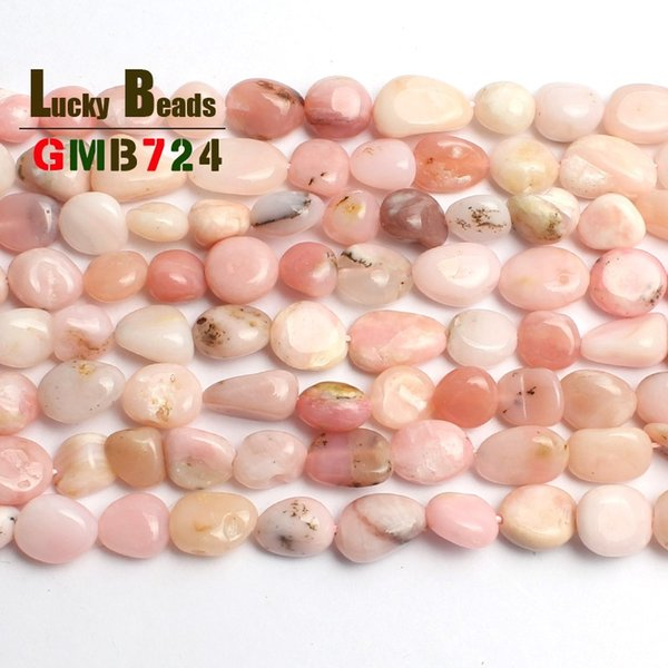 diy 8-10mm irregular natural genuine Pink Opal beads for jewelry making 15inches natural stone beads diy bracelet