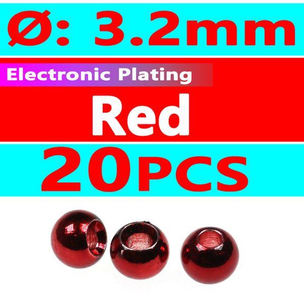 20pcs red 3.2mm