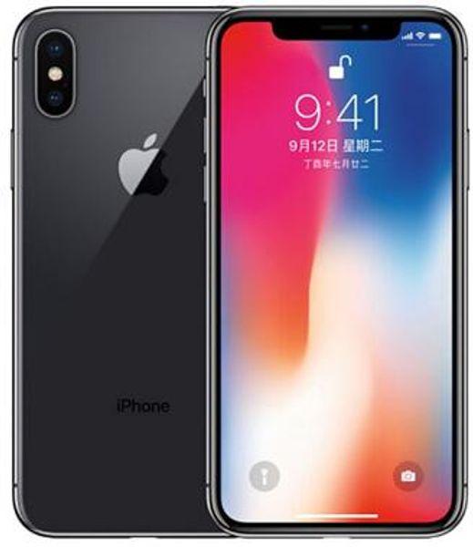 "Refurbished Original unlocked iPhone X NO Face ID 3GB RAM 64GB/256GB ROM 5.8"" iOS Hexa core 12.0MP Dual Back Camera 4G LTE cellphones"
