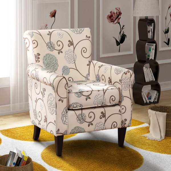 2019 Fabric Accent Chair Living Room Armless Chair With Solid Wood Legs  Beige Floral US Stock From Greatfurnishing, $121.86 | DHgate.Com