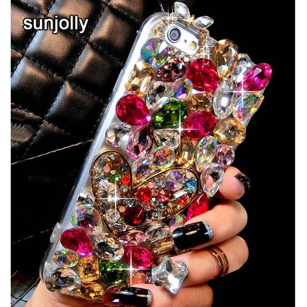 Luxury 3D Color Diamond Case Rhinestone Bling Phone Cover Crystal funda coque for iPhone XS MAX XR X 8/7 Plus 6S/6 Plus 5S SE 5C