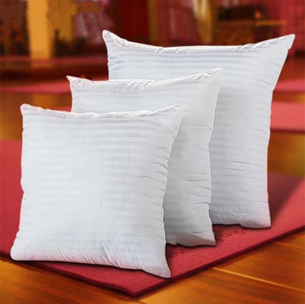 Squre Pillow Core Inserções para Sereia Almofadas PP Algodão Recheado Emoji Núcleo Almofada Emoji Núcleo de Travesseiro Poliéster Listrado Cobre 45 * 45 cm HS06