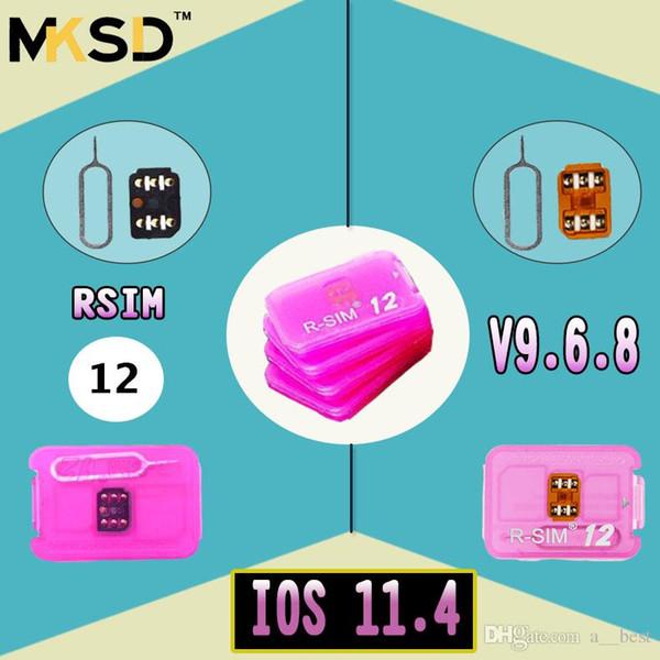 NEWEST Unlock card R-SIM R SIM 12 RSIM12 r sim12 rsim 12 for iPhone 5 6 7 8 X IOS11.4 CDMA GSM WCDMA SB AU SPRINT 3G 4G free ship