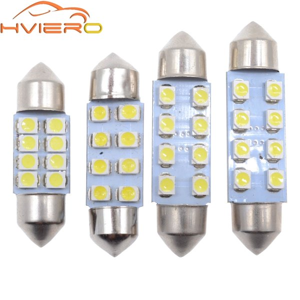 4 Pcs Festoon COB 41MM 2W Car LED Bulbs Interior Dome Lights White 12V