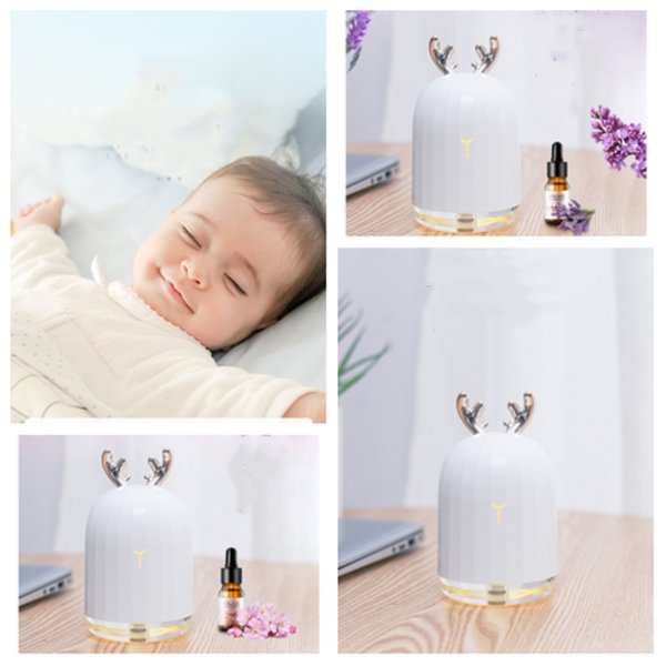 new 220ML ultrasonic air humidifier home Essential Oils Diffusers LED luminous car USB atomizer atomizer Facial Steamer T2I5180