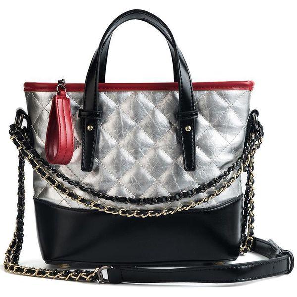Fashion Classic Lingge Chain Design Bucket Shape Lady Shoulder Bag Handbag Casual Totes Femal Shoulder Bag Messenger Bolsa