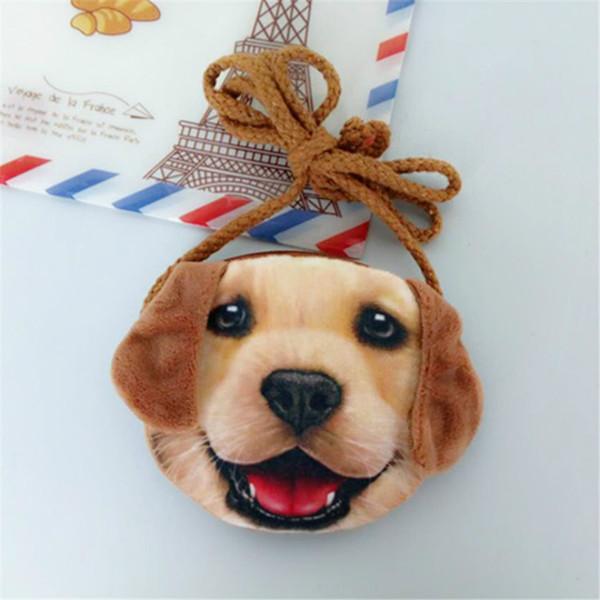 3D Animal Children Purses Girl Cute Small Cat Mini Messenger Bags Fashion Dog Shape Shoulder Bag Baby Kawaii Key Case Coin Pouch