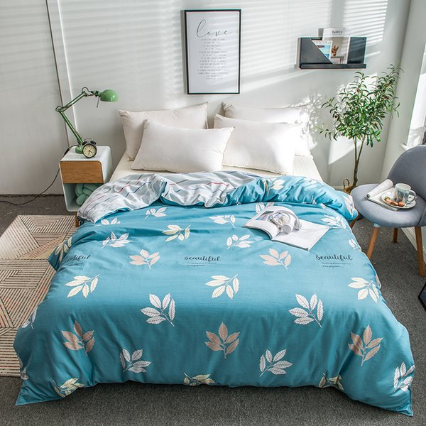 Spring Leaves Printed Duvet Cover 100% Cotton Bedding Set 150*210cm,160*210cm,180*220cm,200*230cm,220*240cm Size Comforter Cover