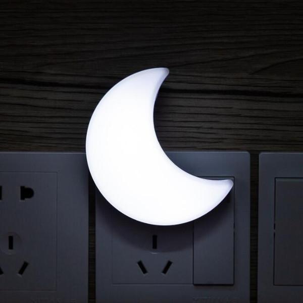 SXI AB Ay Bulut Çiçek Şekilli LED Gece Lambası Akıllı Sensörü Işık Yatak Odası Koridoru Acil Için Takın