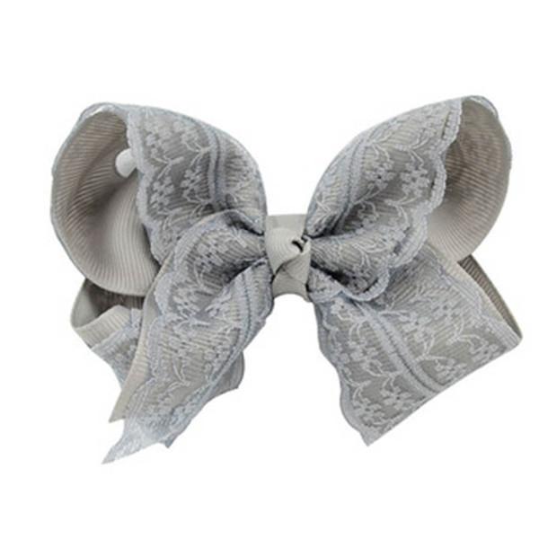 INS Candy Color Hair Clip for Girls Kids Korean Princess Hair Bow Grosgrain Ribbon Lace Hair Bands Handmade Hairpins Barrettes