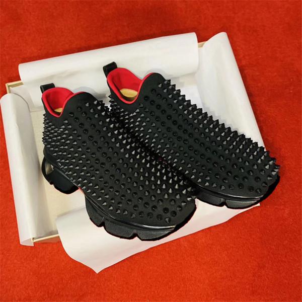En iyi Moda Lüks Kırmızı Alt Erkekler Kadınlar Rahat Ayakkabılar Spike Perçinler Rhinestone Elbise Parti Yürüyüş Ayakkabıları Sneakers Chaussures De Spor 01