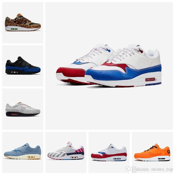 Tokyo Maze sapatos 1s Bred homens mulheres aniversário 1 real Remendo Atomic Teal Parra Puerto Rico 87 aéreos homens formadores esportes tênis 36-45