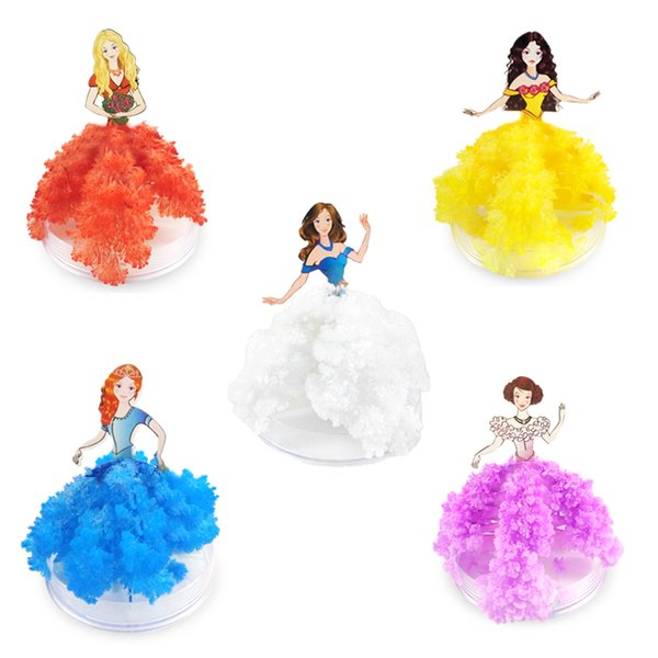 Paper Tree Flowering Princess Dress Christmas Creative Whole Science Experiment Making Toy To Send Girl Cheap Novelty Games Birthday Gift