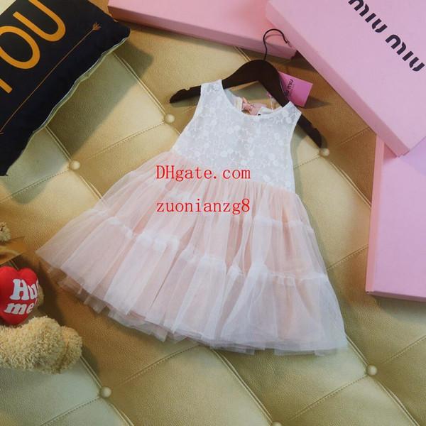 Yaz elbiseler çocuklar marka giysi kız elbise bebek kız giysileri çocuklar elbise Moda pembe tomurcuk ipek ipliği etek kız butik kıyafetler PF-31