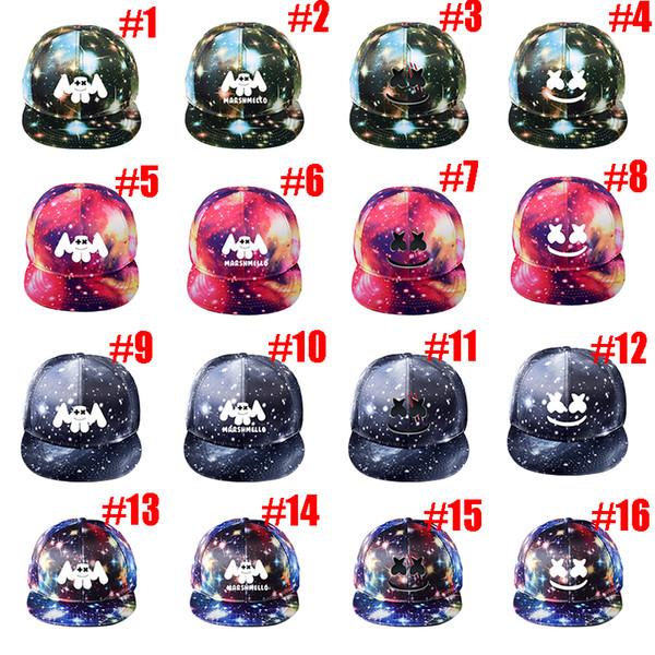 dj marshmello baseball caps pure cotton cap adjustable snapback hats for women men music hat tc190328w 50pcs