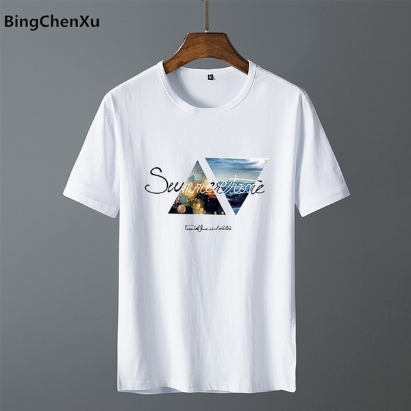 Mens T Shirt Slim Fit Crew Neck T-shirt Men Hip Hop Short Sleeve Shirt Casual tshirt Tee Tops Short MEN Size S-4XL 4942