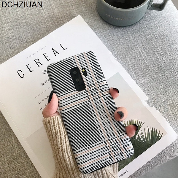 Fashion Plaid Phone Case For Samsung Galaxy S8 S8plus S10 S9 Plus Case For Samsung Galaxy Note 8 Note 9 Silicone Cover
