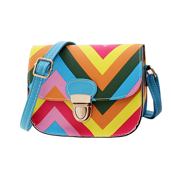 Cheap Fashion Charming Nice OCARDIAN Best Gift OCARDIAN New Fashion Women Leather Shoulder Rainbow Chain Of Small Square Package bag