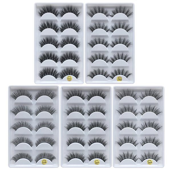 best selling DHLfree shipping 5pais Eye Lashes Thick false Eyelashes 5 pairs of false eyelashes F810 5pais EyeLashes F820 F830 F840 F850