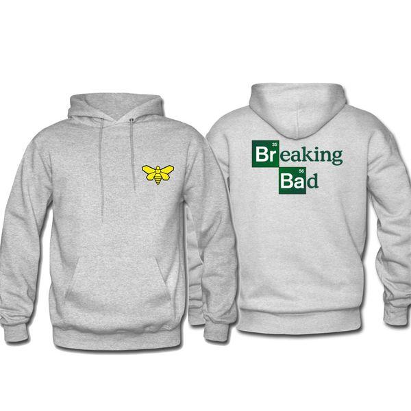 Dropshipping Suppliers Usa Uomini Felpe Felpe con cappuccio Sorriso Stampa Hip Hop Abbigliamento Streetwear BreakingBad Heisenberg
