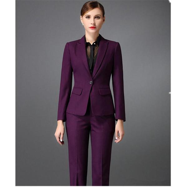 Customized autumn business formal elegant women's suit two-piece suit (jacket + pants) women's office business formal suit