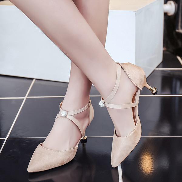 Damenschuhe Damen Pumps OL Schuhe 8 Farbe Spitz Zehe Slipper