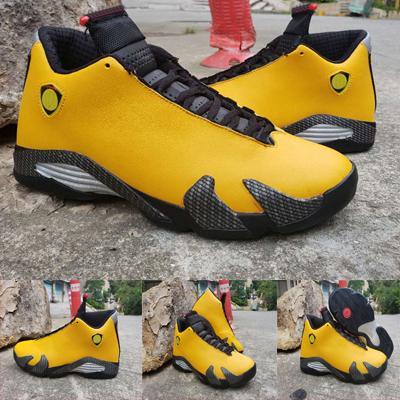 2019 Yeni 14 Ters Ferrar Basketbol Ayakkabıları BV7630-106 Men14s Sarı Spor Sneakers Jumpman Rip Hamilton Erkek Eğitmenler boyutu 40-47