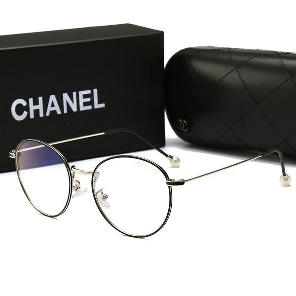 New Summer Women's Designer Sunglasses Hot Brand Anti-blue Light Women's Round Glasses with Luxury Full Frame for Men Women with Box
