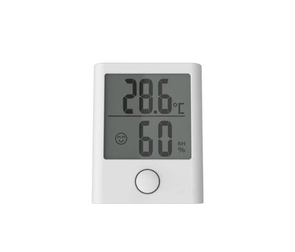 Baldr MINI Início LCD Estação meteorológica Temperatura interior hygrometer Relógio Termômetro Digital Preto Branco