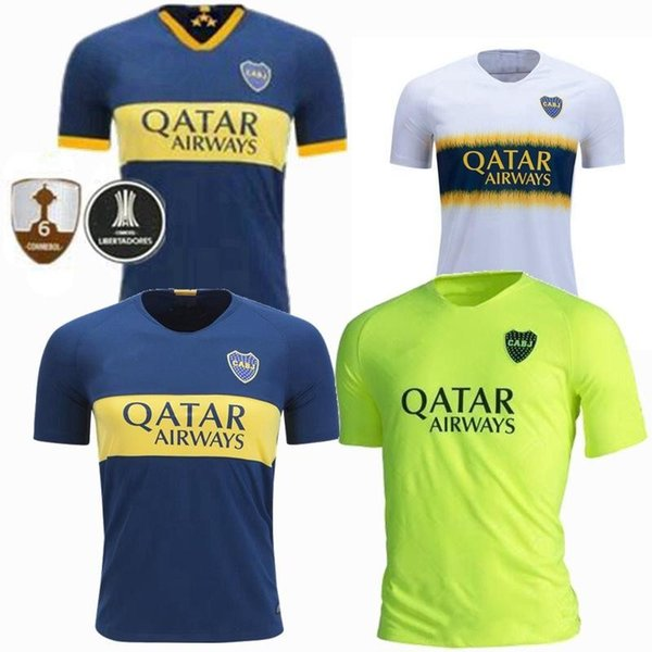 New 2019 Boca Juniors Startseite Deep Blue Fußball Jersey 19 20 Saison Boca Juniors Heim Fußball-Hemd Fußball-Uniform-Verkäufe geben Verschiffen